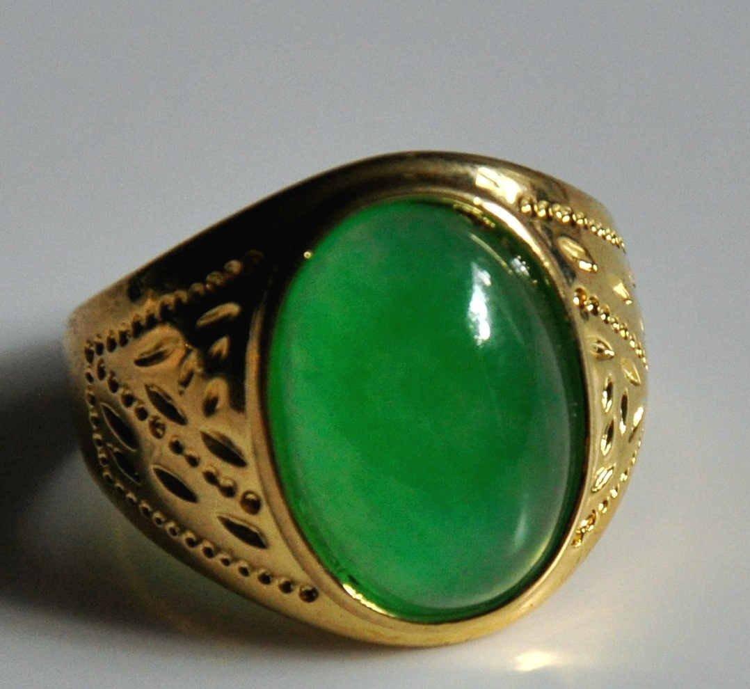 A translucent men jadeite ring - 3