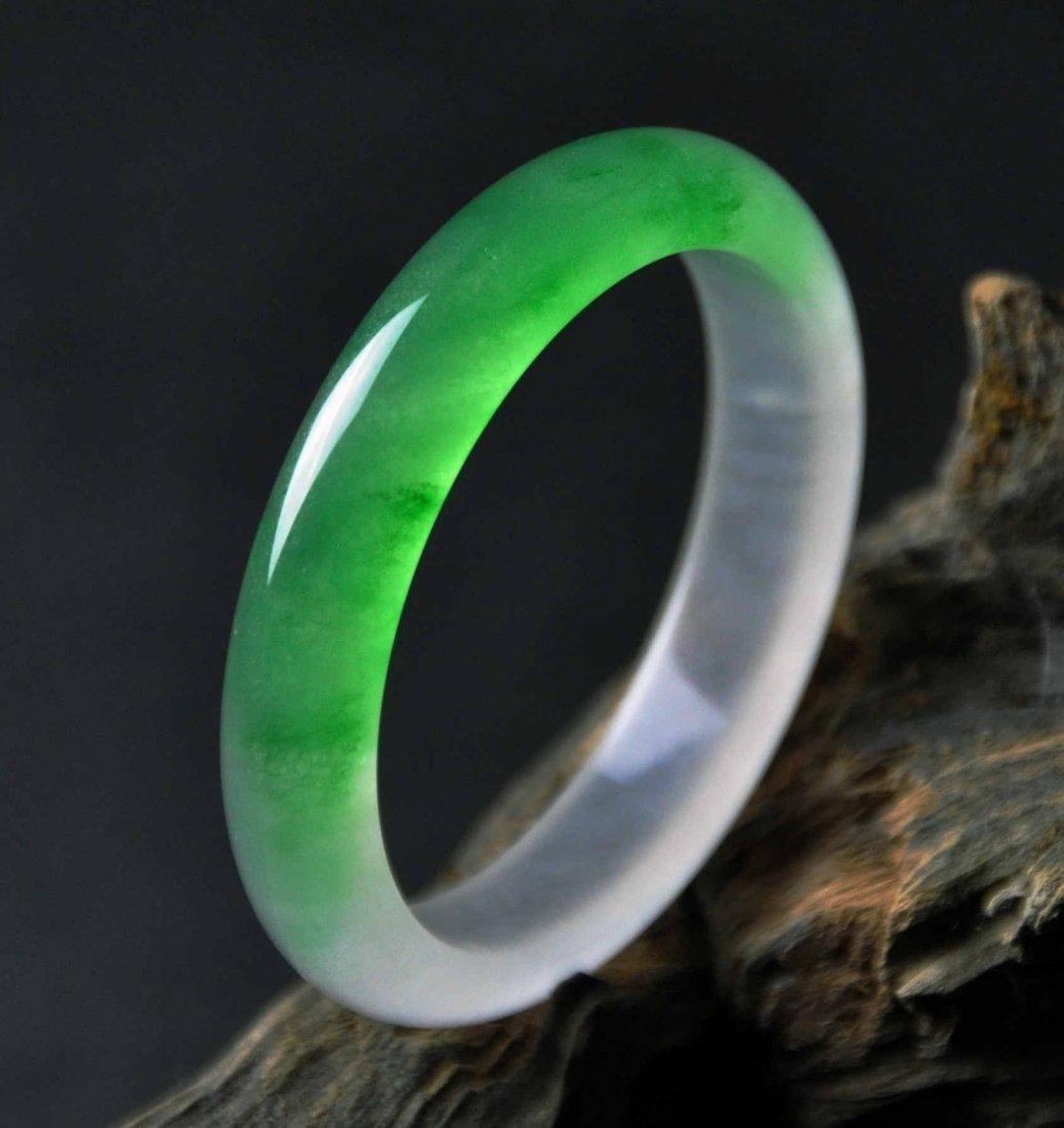 A translucent jadeite bangle