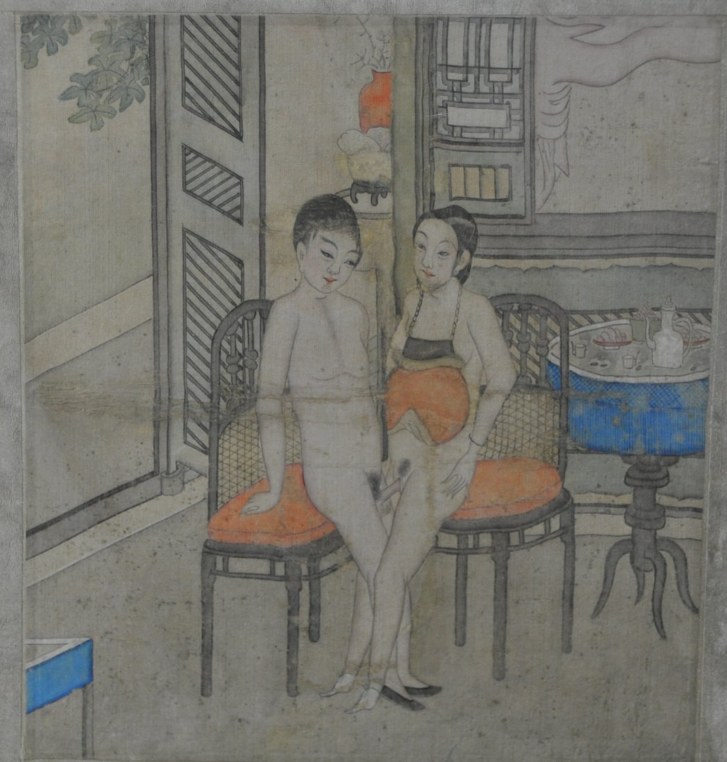 A 19th Century Chinese Erotic painting