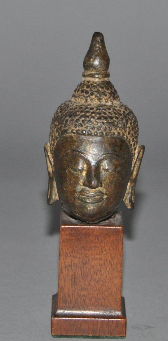 A 19th Century Thai bronze Buddha head