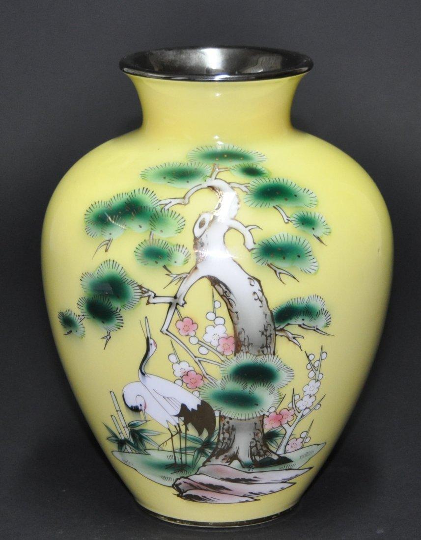 A Japanese Enamel vase