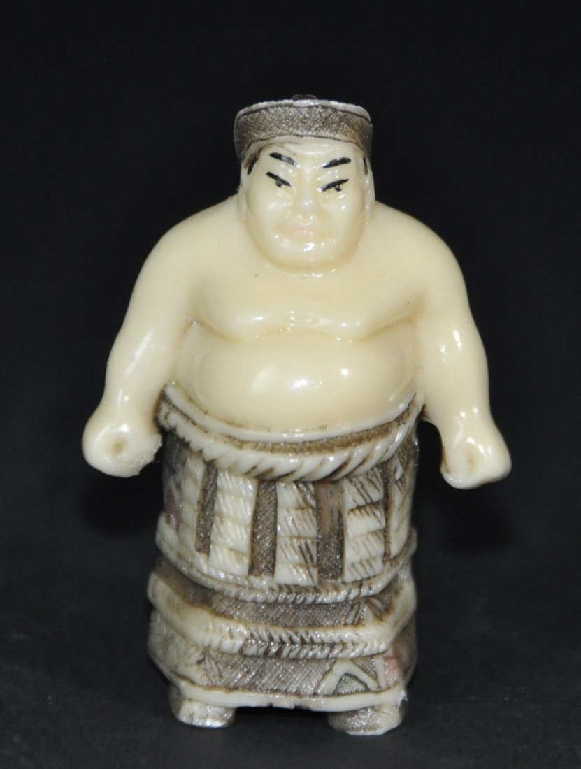 A Japanese carved figure
