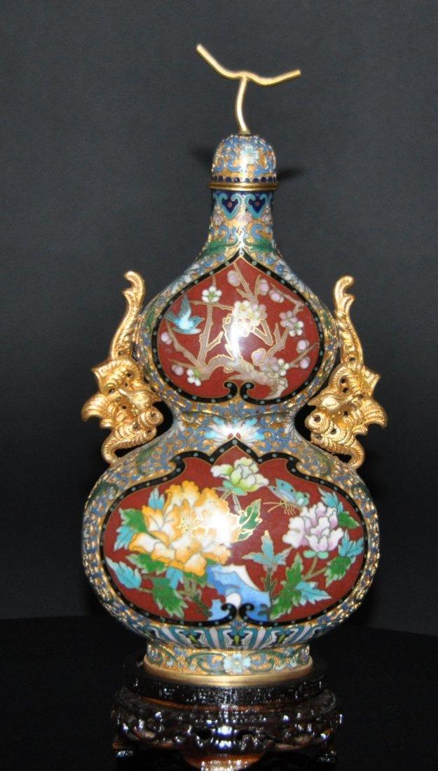 A Qing Qianlong red glazed porcelain  vase