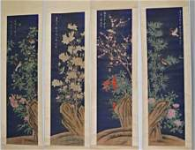 A rare set of 4 Kangxi period paintings