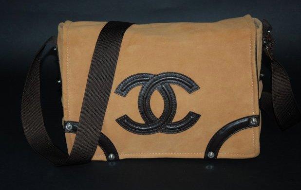 A  Chanel Suede Shoulder Bag #9395451