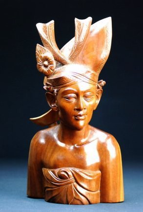 A Bali Wood carving of a man - 2