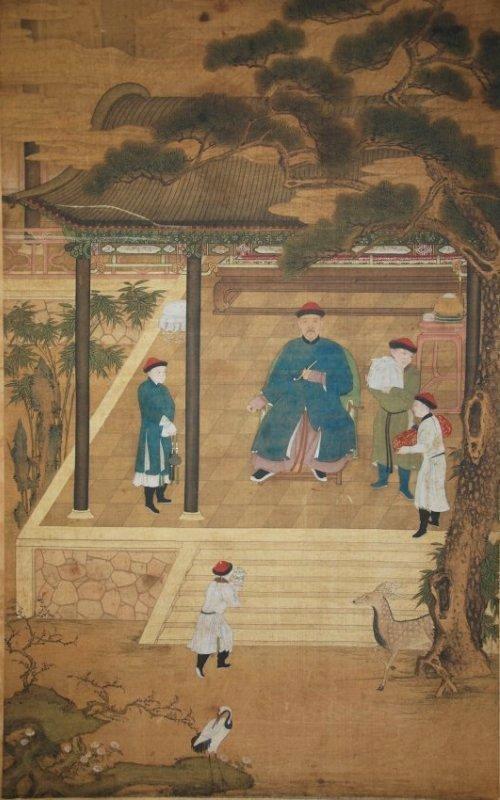 A Yongzheng period Emperor painting