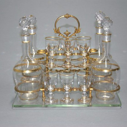 A Fine 19th century Baccarat French Crystal Tantalus
