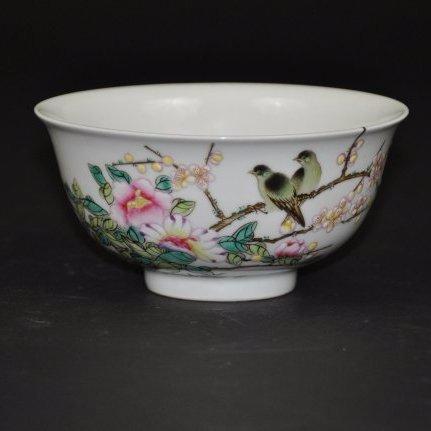 A rare Yongzheng period enamel bowl