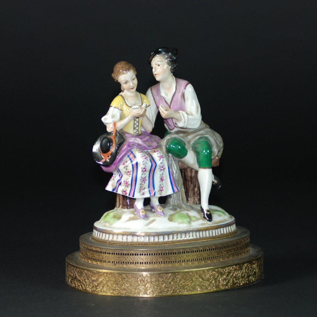 An Antique German porcelain  figural group