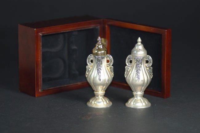 A Pair silver gilt metal bottles