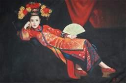 A JiangGuofang Oil on canvas painting