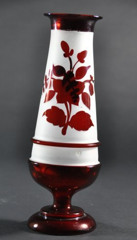An Antique Handcrafted Ruby Red Glass