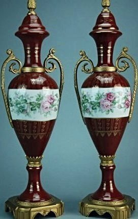 A Pair Of Royal Vienna Porcelain Covered Urns