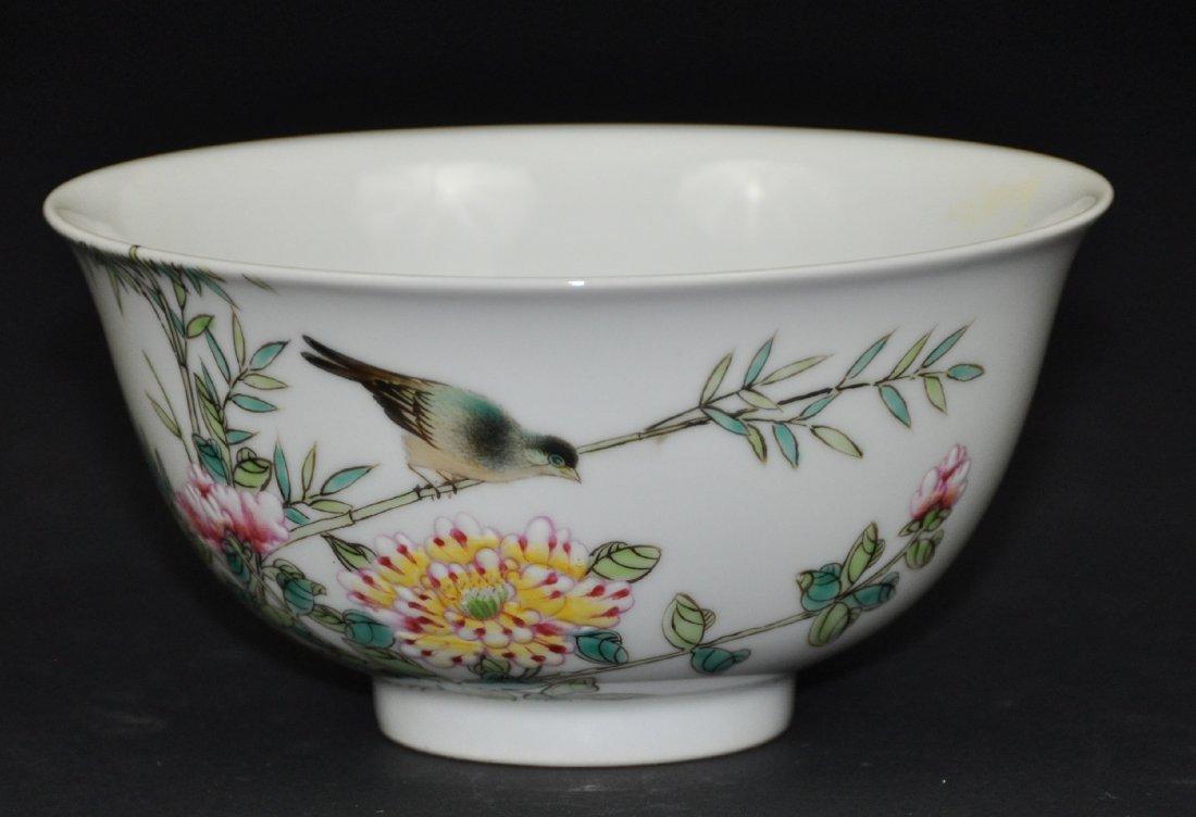 A rare Yongzheng period enameled porcelain bowl