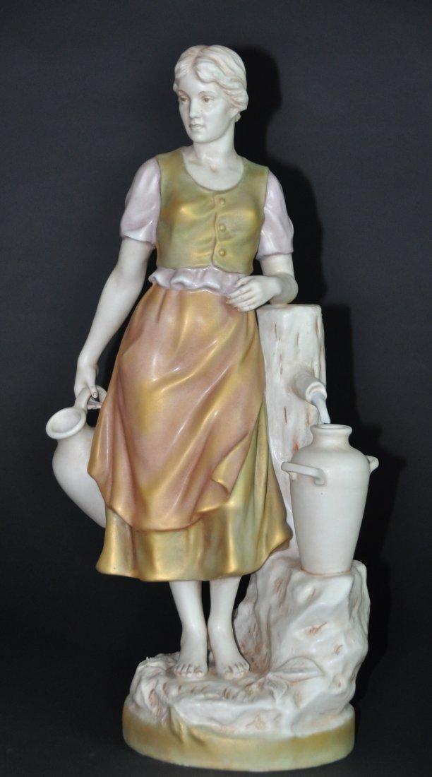 A19th century Royal Dux Porcelain Figure: Lady at the
