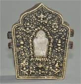 A giltbronze Tibetan Himalayan decorative object