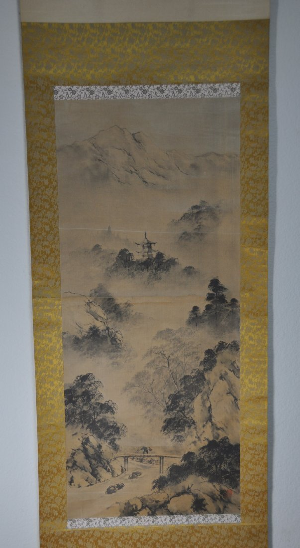 A 19th Century landscape Japanese painting