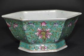 A 19th Century  Turquoise glazed porcelain bowl