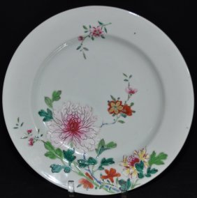 A fine 18th century famille rose porcelain dish.