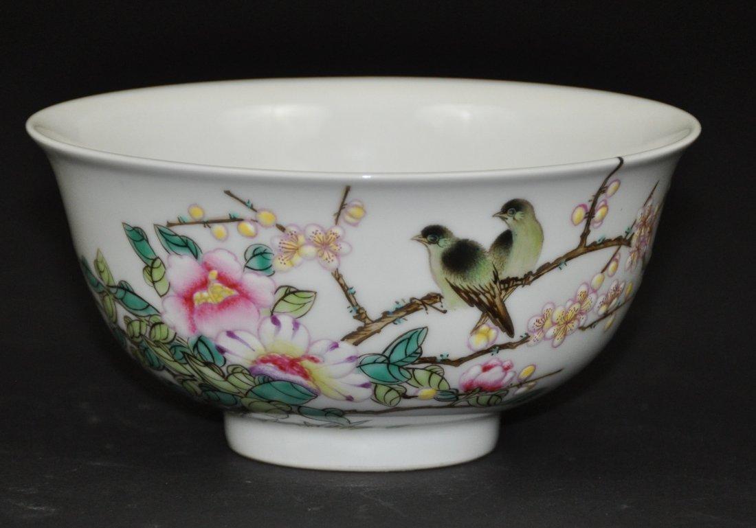 A fine rare Qing Dynasty Yong zheng enamel bowl