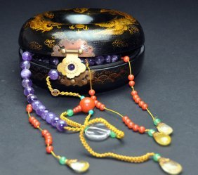 A 19th Century Chinese court amethyst necklace