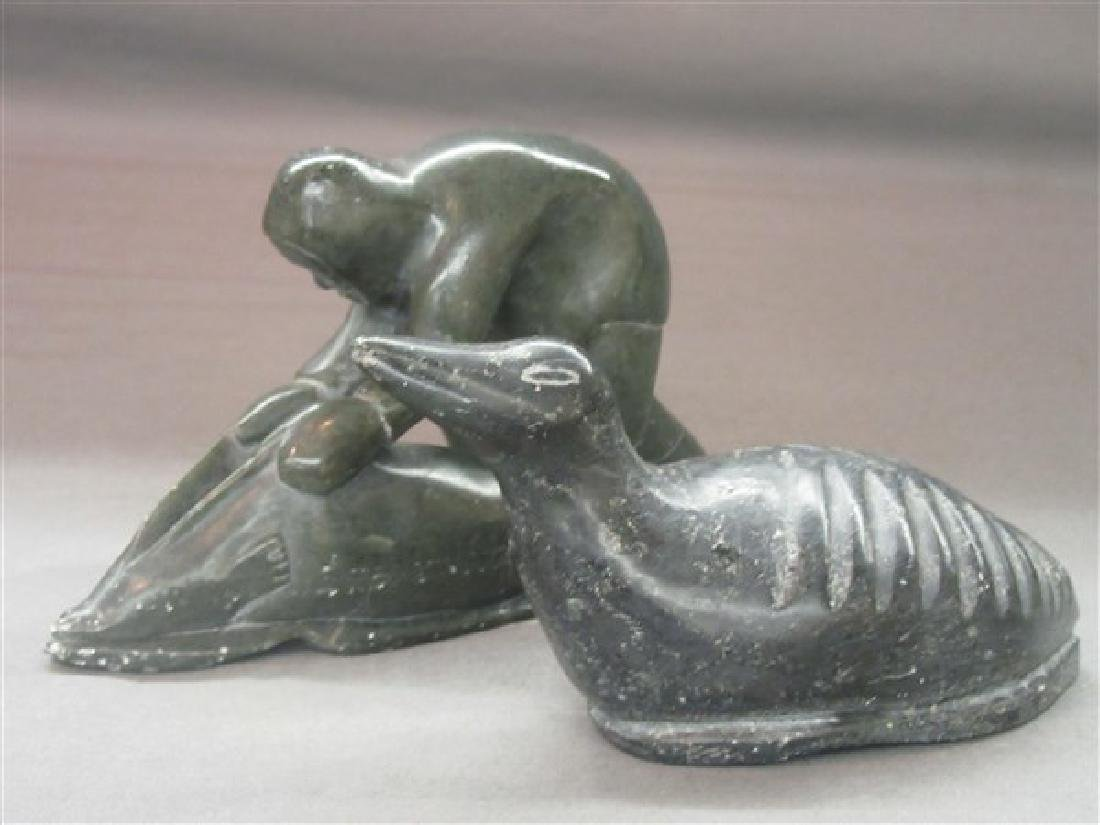 Two (2) Inuit Stone Carvings