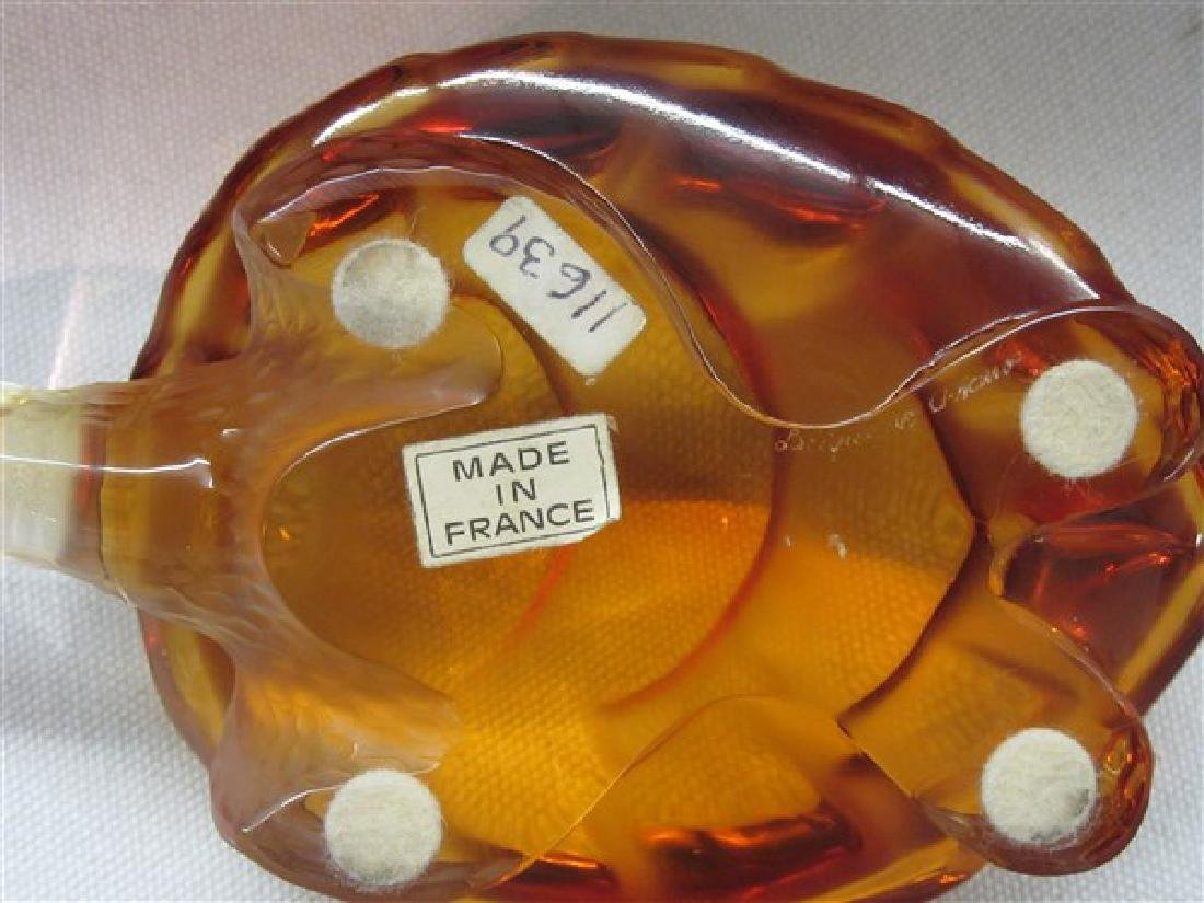 Lalique Amber Glass Turtle - 3