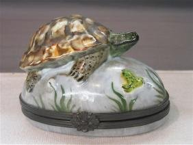 Rochard Limoges Porcelain Turtle Box