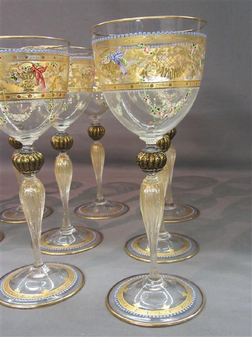 Twelve (12) Venetian Glass Goblets - 2