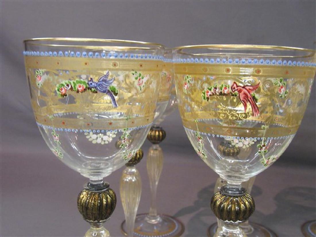Twelve (12) Venetian Glass Goblets - 3