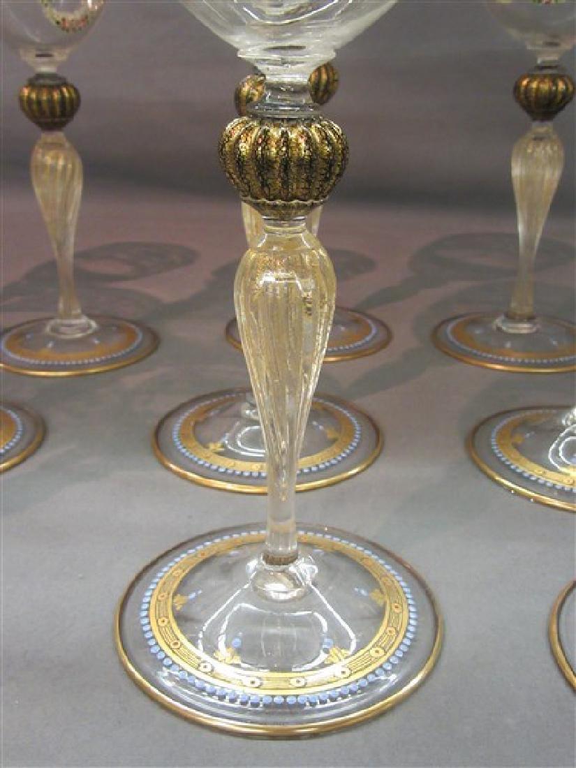 Twelve (12) Venetian Glass Goblets - 4