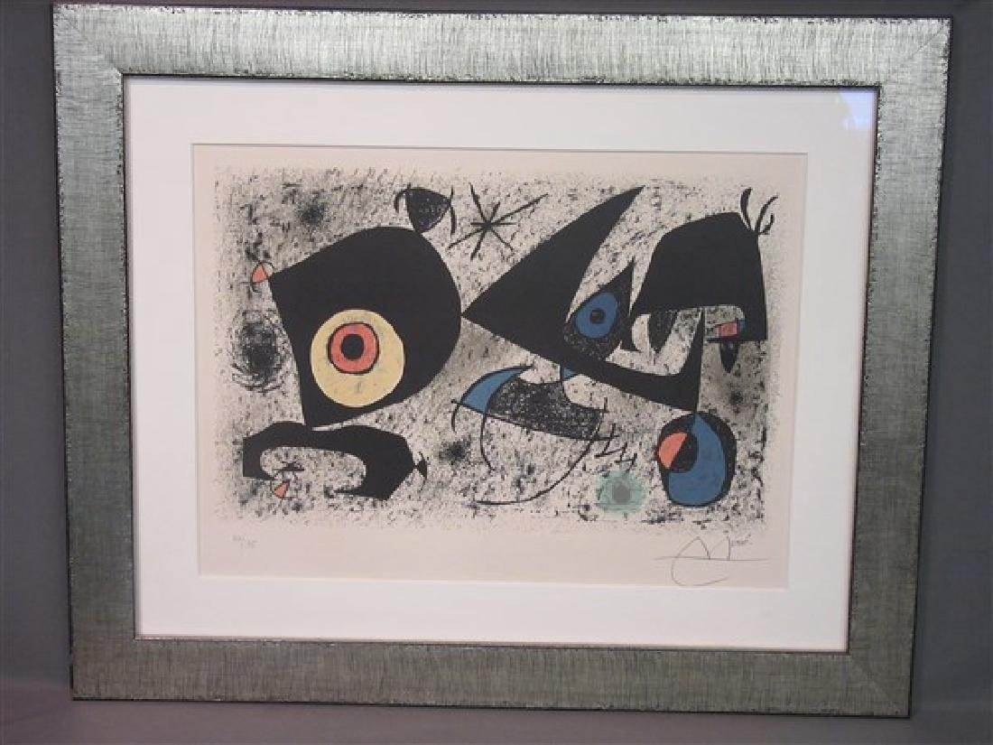 Joan Miro (1893-1983) Signed Lithograph Homage To