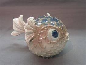 Lladro Porcelain  Blow Fish Figure