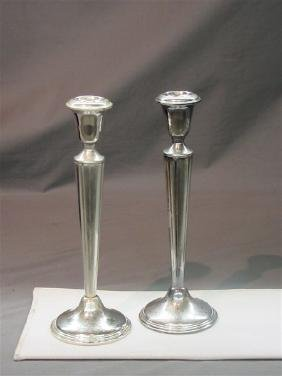 Empire Sterling Silver Candlesticks