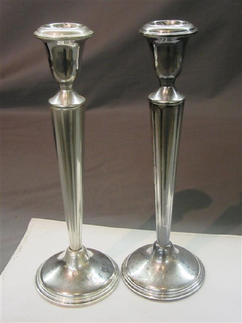 Empire Sterling Silver Candlesticks - 3