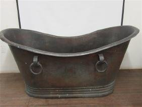 Hand Hammered Oversized Copper Bath Tub