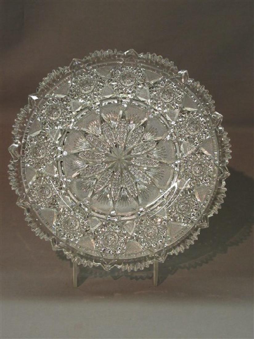 "ABCG Tuthill Cut Glass ""Rex"" Pattern Plate"