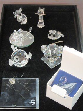 Eight (8) Swarovski Crystal  Animals