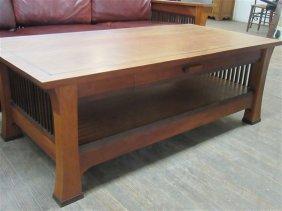 Designer Gerard Ryan Cherry Wood Coffee Table
