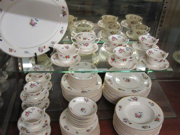 """Syracuse China """"Old Ivory"""" Floral Dinner Service"""