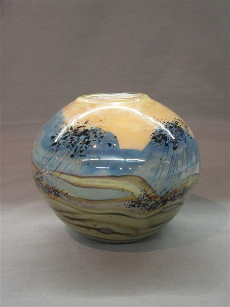 Rich Miller Studio Art Glass Vase - 2