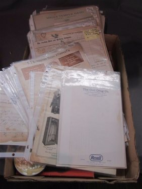 Paper Ephemera Letterhead Group