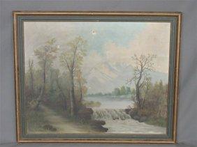 Mary Birdsall (American) Landscape Oil on Canvas