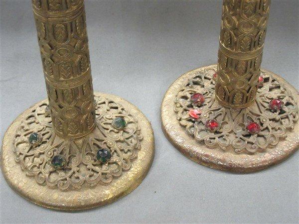 Jeweled Czech Candlesticks - 2