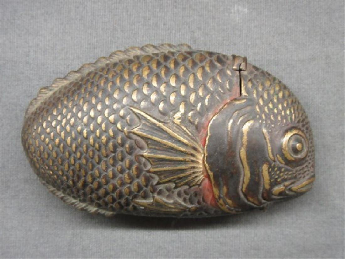 Antique Fish Match Safe