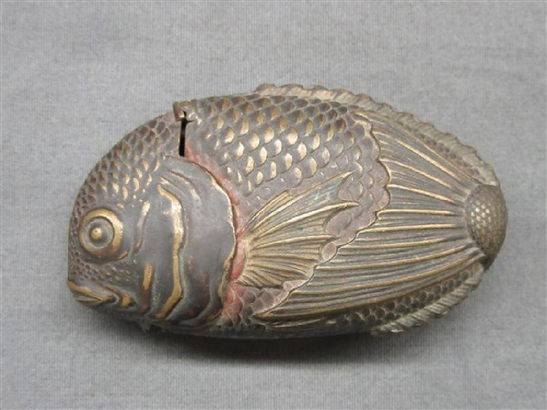 Antique Fish Match Safe - 2