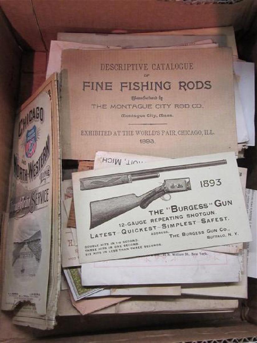 Fishing, Hunting and Columbian Expo Paper Ephemera