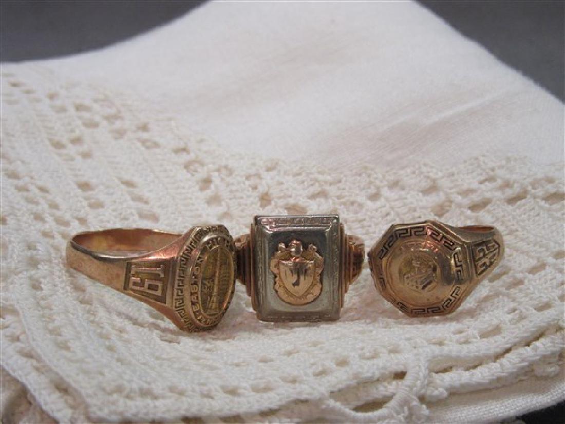 Three (3) 14K gold rings 1930's