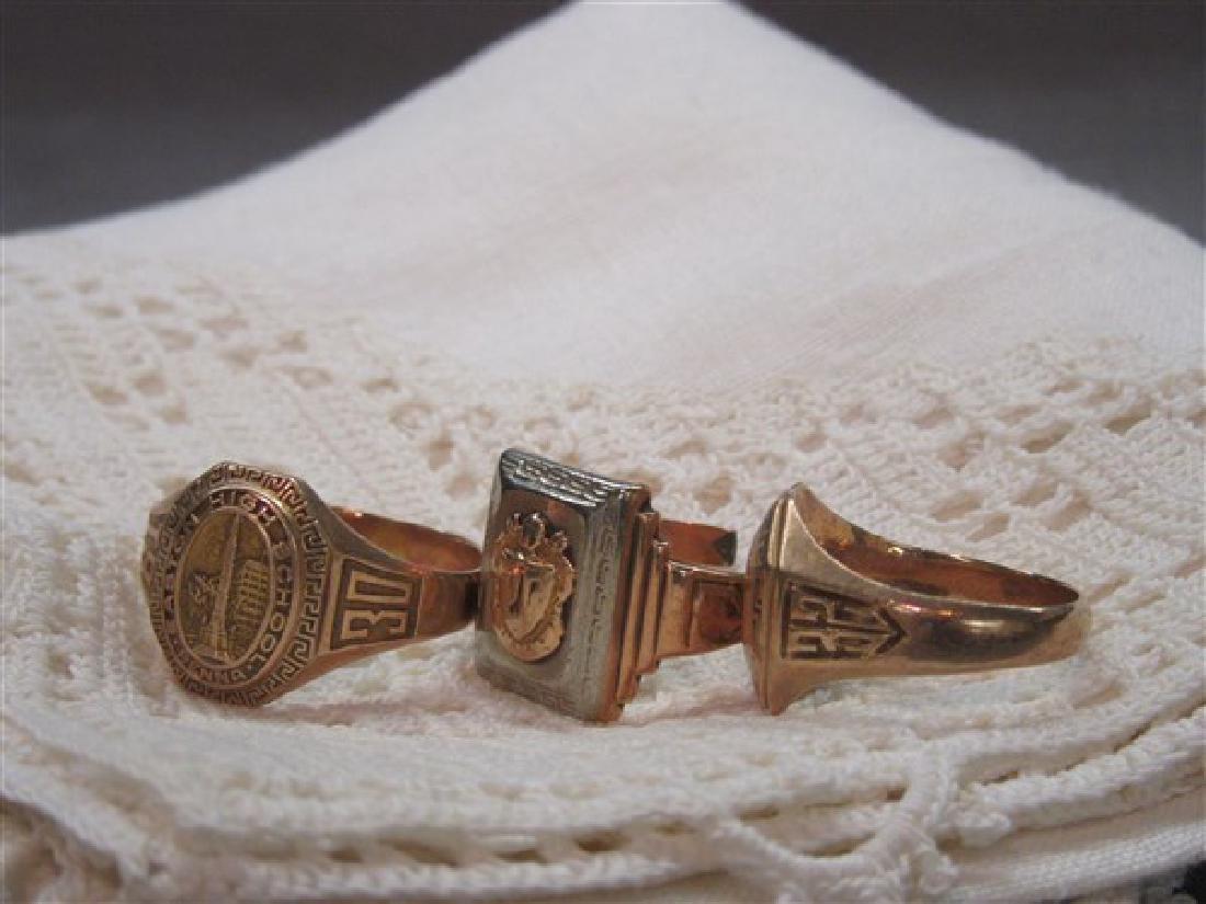 Three (3) 14K gold rings 1930's - 2